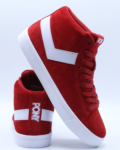 Men's Classic High Suede Sneaker - Red White