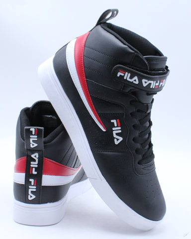 FILA-Men's Vulc 13 Repeat Logo Sneaker - Black-VIM.COM