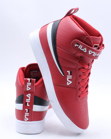 FILA-Men's Vulc 13 Repeat Logo Sneaker - Red-VIM.COM