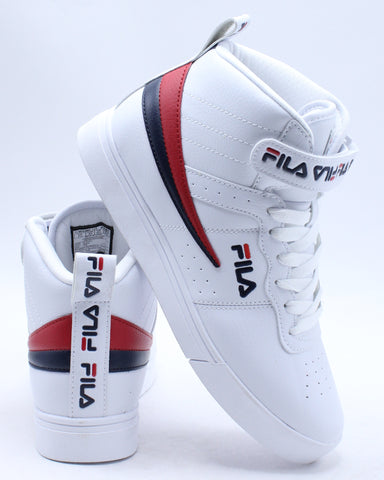 FILA-Men's Vulc 13 Repeat Logo Sneaker - White-VIM.COM
