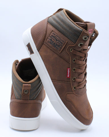 LEVI'S-Men's Liam Mid Sneaker - Brown-VIM.COM