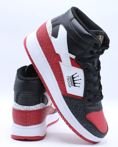 Men's Destroyer Mid Sneaker - Black Red