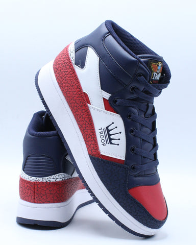 Men's Troop Destroyer Sneaker - Blue Red