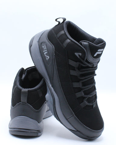 FILA-Men's Seven Five Sneaker - Black-VIM.COM