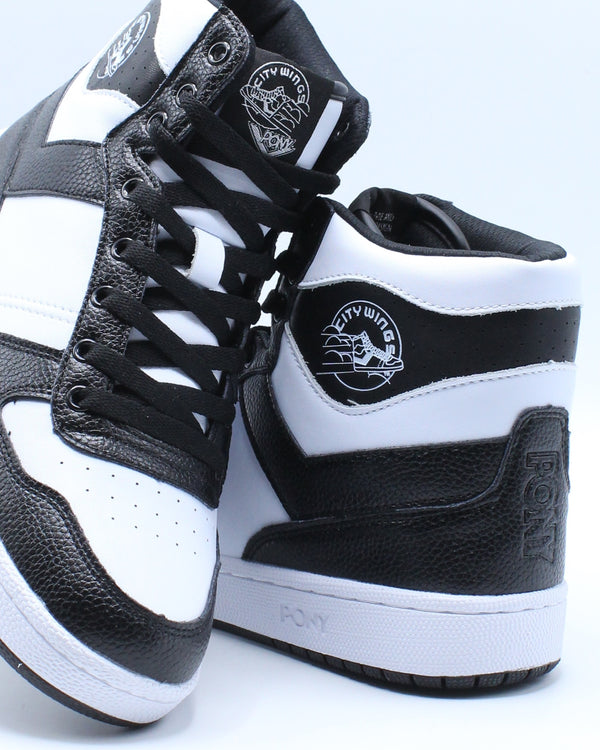Men's City Wings High Leather Sneaker - Black