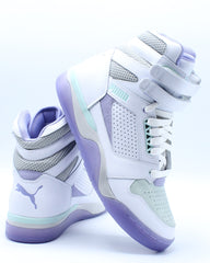 Mens Palace Guard Mid Sneaker - White Purple