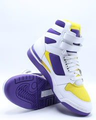 Mens Palace Guard Mid Sneaker - White Purple Yellow