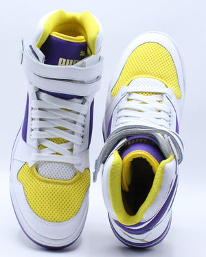 Men's Palace Guard Mid Sneaker - White Purple Yellow