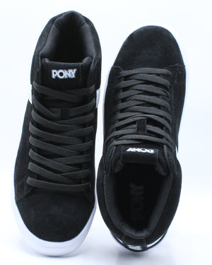 Men's Classic High Suede Sneaker - Black White