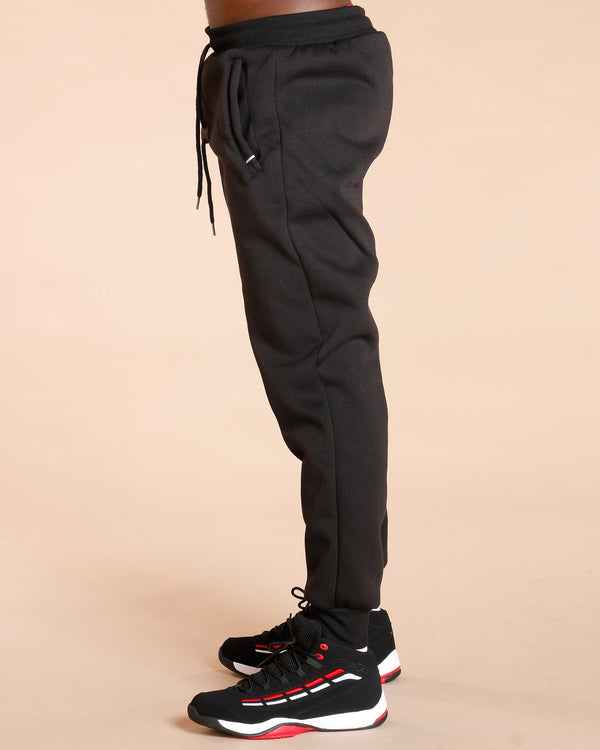 VIM Knitted Fleece Jogger - Black - Vim.com