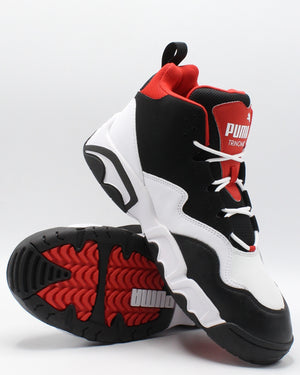 PUMA Men'S Source Mid Sneaker - Black Red - Vim.com