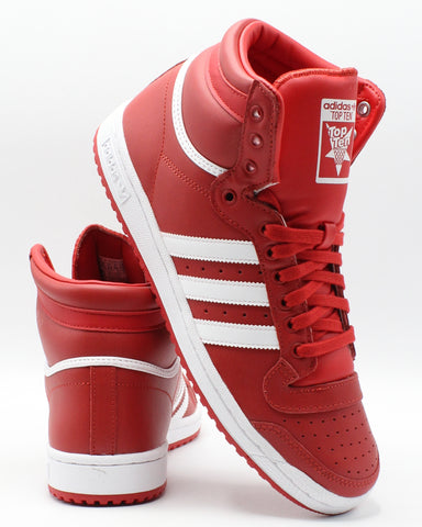 ADIDAS-Men's Top Ten Sneaker - Red White-VIM.COM