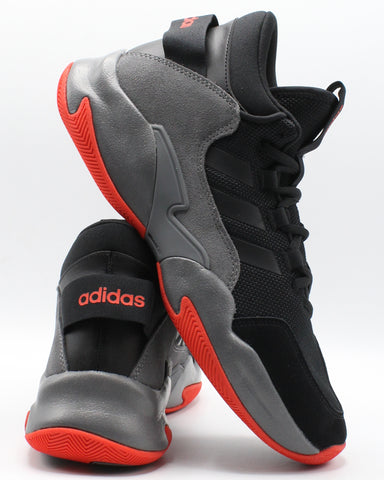 ADIDAS-Men's Streetcheck Sneaker - Black Red-VIM.COM