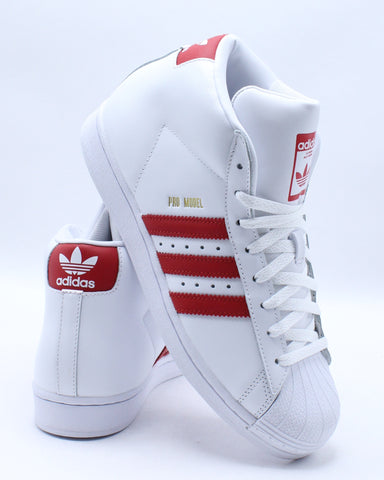 Men's Pro Model Sneaker - White Scarlet