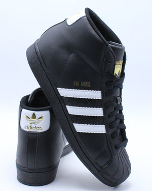 ADIDAS-Men's Pro Model M Sneaker - Black White-VIM.COM