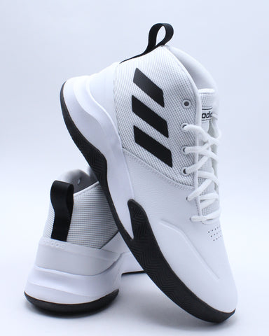 ADIDAS-Men's Own the Game Sneaker - White Black-VIM.COM