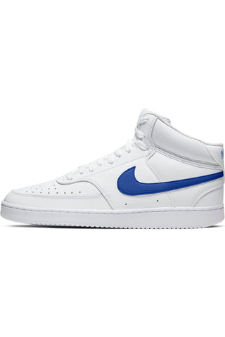 Men's Court Vision Mid Mens Shoe - White Royal