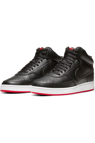 Men's Court Vision Mid Mens Shoe - Black Red