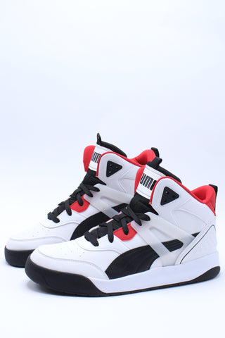 Men's Backcourt Mid Sneaker - White Black Red