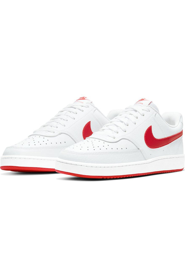 NIKE-Men's Court Vision Low Shoe - White Red-VIM.COM