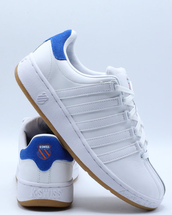 Men's Vn Basketball Sneaker - White Blue-VIM.COM