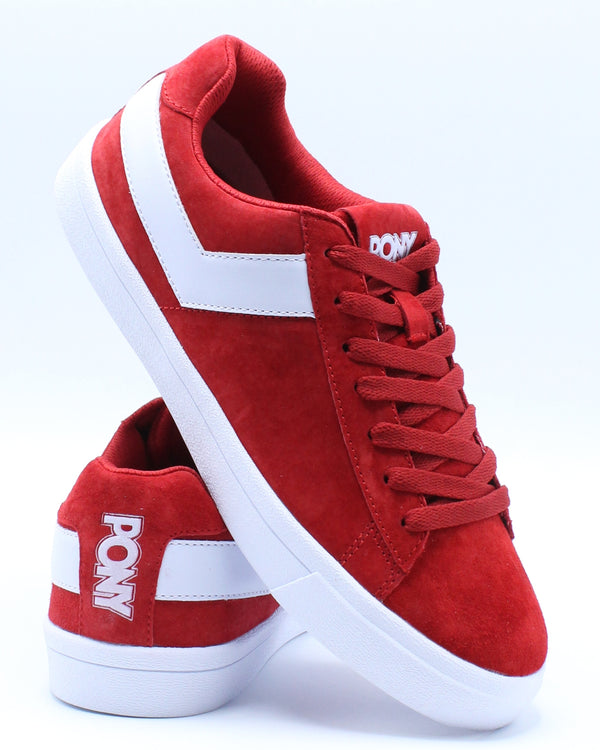 PONY-Men's Classic Low Suede Sneaker - Red-VIM.COM