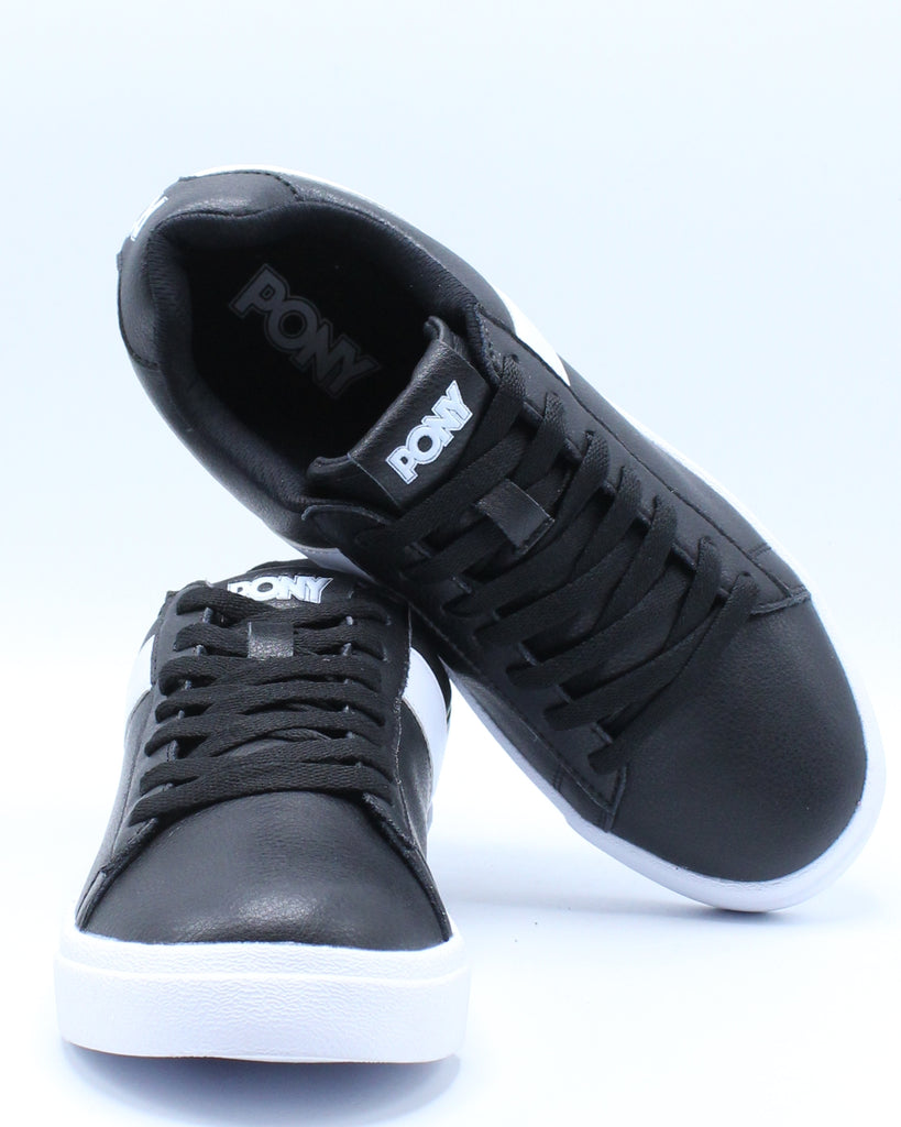 Mens Classic Low Leather Sneaker - Black
