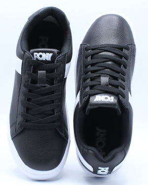 Men's Classic Low Leather Sneaker - Black