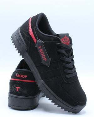 Men's Crown Ripple Sneaker - Black Red-VIM.COM