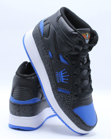 TROOP-Men's Destroyer Mid Sneaker - Black Blue-VIM.COM
