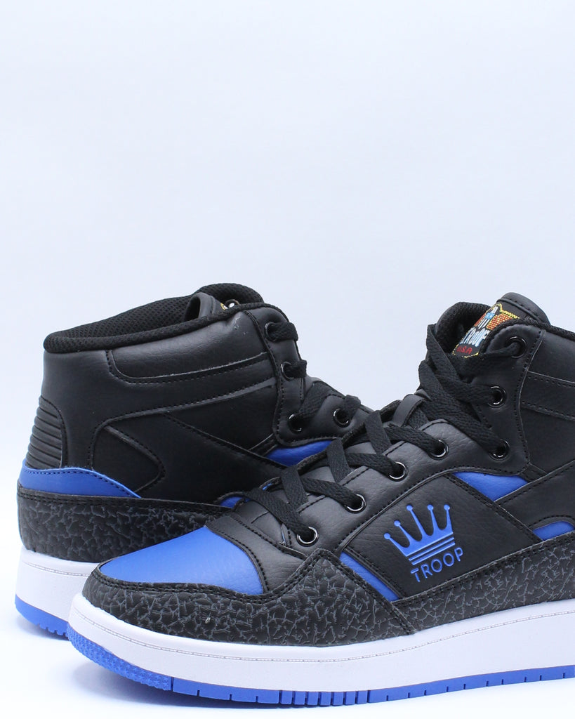 Mens Destroyer Mid Sneaker - Black Blue