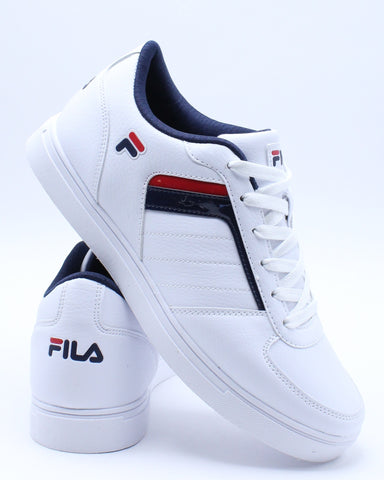 FILA-Men's Davenport Sneaker - White Red-VIM.COM
