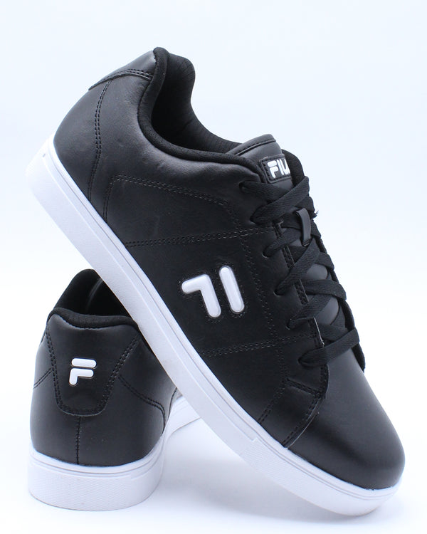 FILA-Men's Charleston Sneaker - Black White-VIM.COM