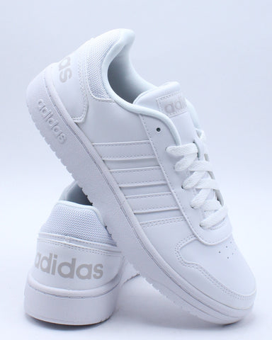 ADIDAS-Men's Hoops 2.0 Sneaker - White Grey-VIM.COM