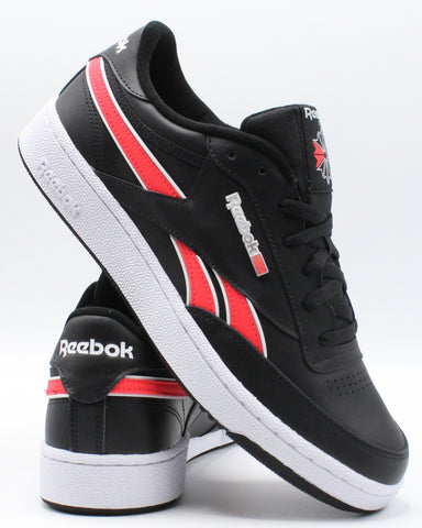 REEBOK-Men's Club C Revenge Mu Sneaker - Black Red-VIM.COM