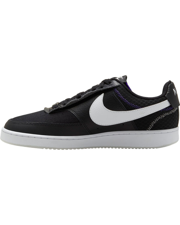 Men's Court Vision Low Premium Sneaker - Black White