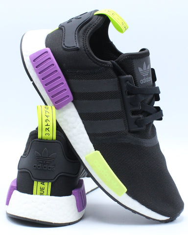 ADIDAS-Men's NMD R1 Sneaker - Black Purple-VIM.COM