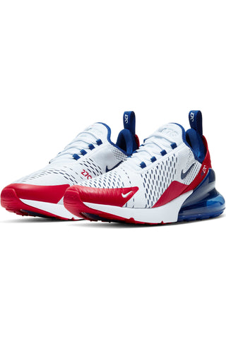 Men's Air Max 270 Shoe - White Red