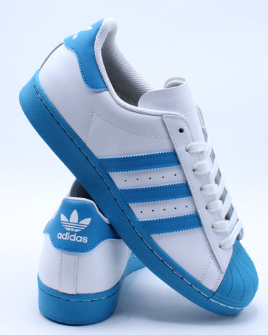 Men's Superstar Sneaker - White Aqua