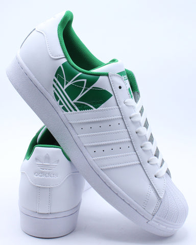 Men's Superstar Sneaker - White Green