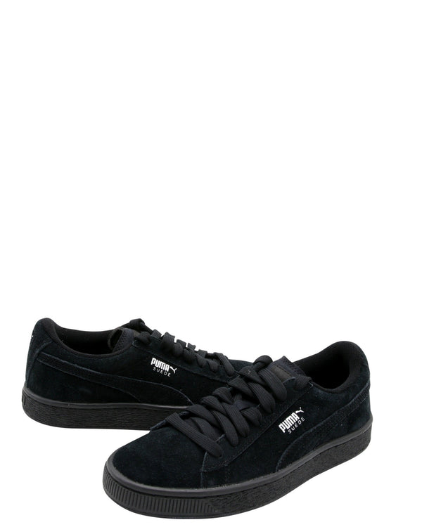 PUMA Suede Jr Low Top Sneakers (Grade School) - Black - Vim.com