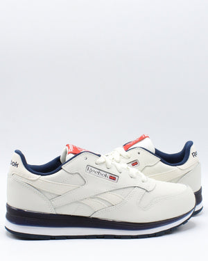 REEBOK Classic Leather Mu Sneaker (Grade School) - Chalk Navy Red - Vim.com