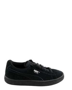 PUMA-Suede Jr Low Top Sneakers (Grade School) - Black-VIM.COM