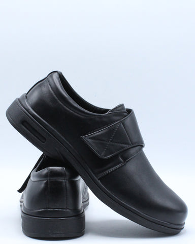Men's Velcro Non Slip Shoe - Black-VIM.COM
