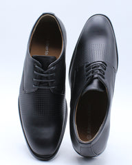 Mens Lace Up Perforated Dress Shoe - Black