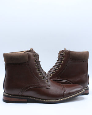 Men's Dress Lace Boot - Brown