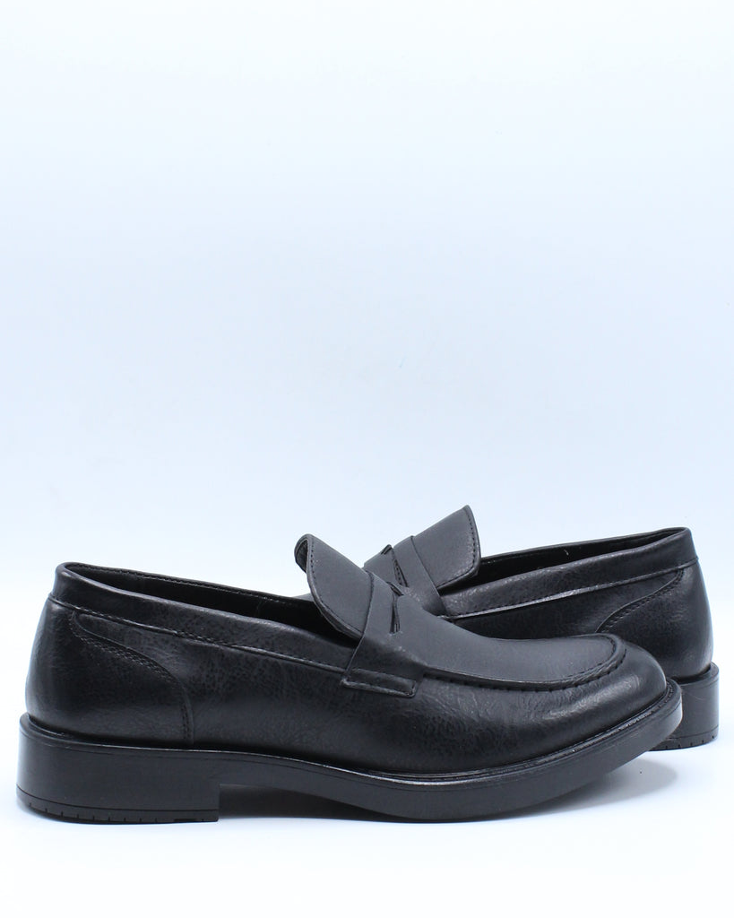 Mens Penny Loafer Shoe - Black