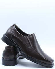 Mens Slip On Smooth Leather Dress Shoe - Brown
