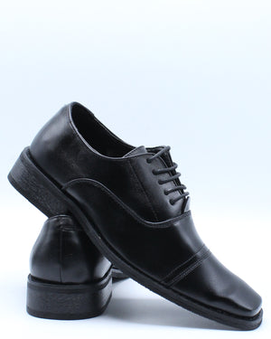 Men's Lace Up Dress Shoe - Black-VIM.COM