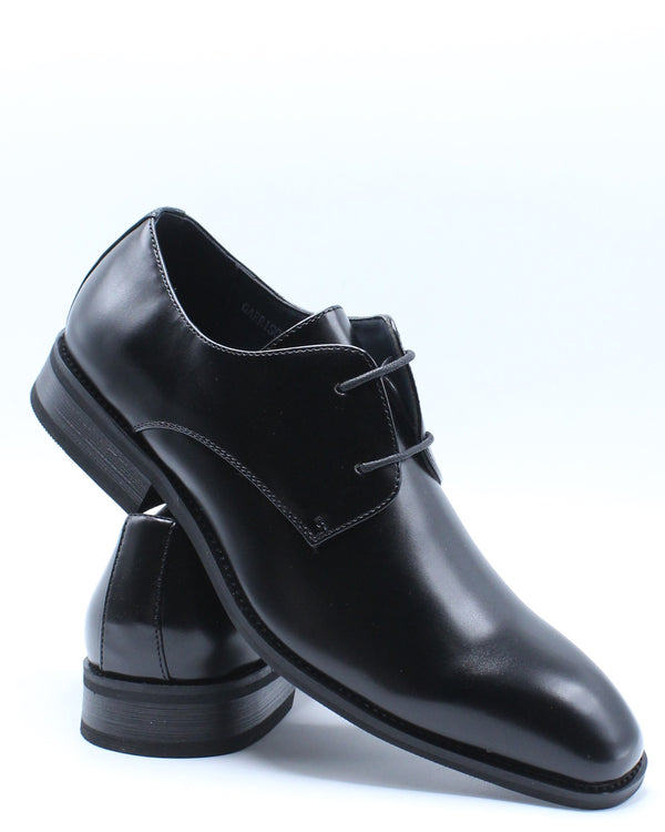 Men's Dress Lace Up Shoe - Black-VIM.COM